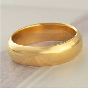 14 Gold filled wedding band ring new vintage style